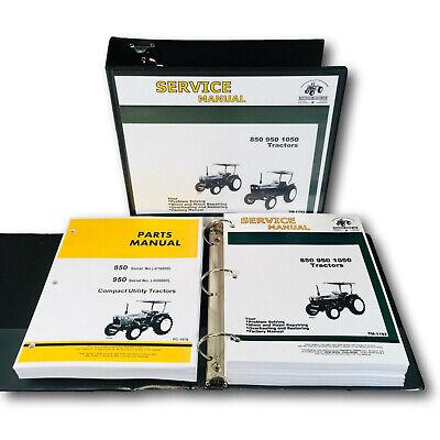 Service Manual For John Deere 850 950 Tractor Repair Parts Catalog Sn -020000