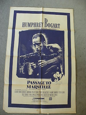 """Humphrey Bogart in """"Passage to Marseille"""" with Claude Rains poster 27""""X40""""194?"""