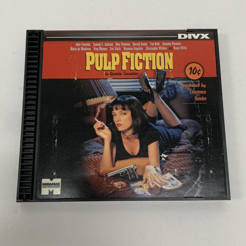 DIVX Movie Pulp Fiction Miramax Home Entertainment Quentin Tarantino Cult Film