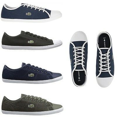 (Lacoste Women Fashion Casual Lace Up Shoes NEW Ziane Canvas Series Sneakers )