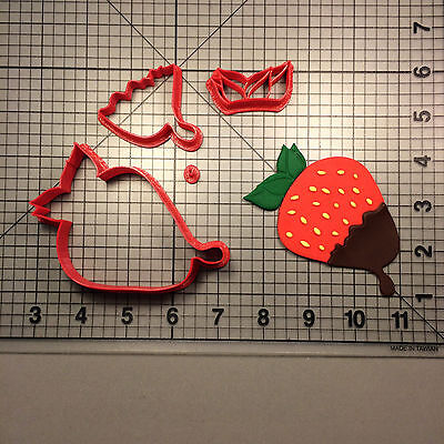 Strawberry Cookie Cutter (Strawberry Chocolate Cookie Cutter)
