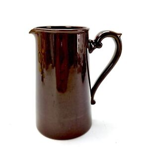 Tall Brown Jug Milk Gibsons Staffordshire Made In England Decorative Ornaments
