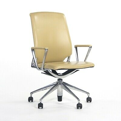 2011 Vitra Meda By Alberto Meda Desk Chair Tan Full Leather Knoll Herman Miller