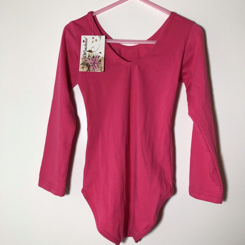 Wenchoice Pink Long Sleeve Leotard Girls L (4-7 Years)