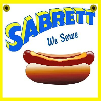 Sabrett Hot Dog Double Sided Sign