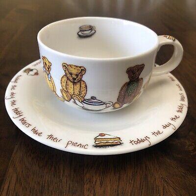 Ted-Tea Cup & Saucer Set Paul Cardew Teddy Today's The Day...Teddy Bears Picnic