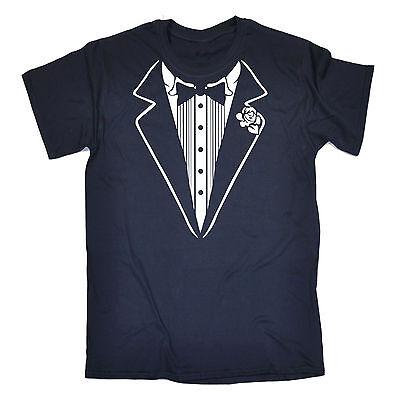 Tuxedo White MENS T-SHIRT tee birthday fancy dress costume ideas funny gift