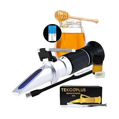 Optics Honey Sugar Moisture Brix Baume Refractometer ATC, Tri-scale 58-90% Br...