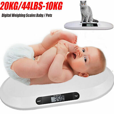 20 KG Electronic Digital Baby Weighing Scale Infant Pet Bathroom 44 LBS-10G...