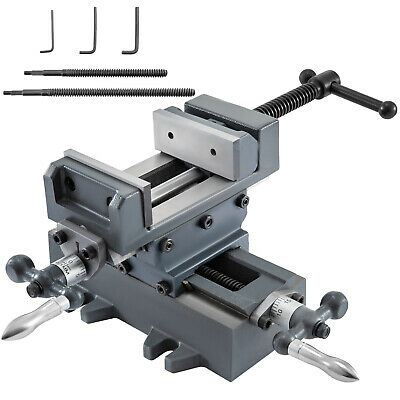 3 Compound Cross Slide Industrial Strength Drill Press Vise 2 Way Benchtop
