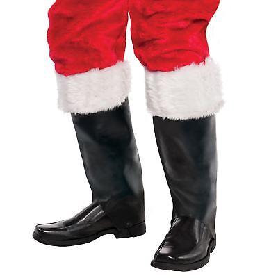 Erwachsene Stiefel Top Abdeckungen Weihnachtsmann Weißer Rand Pelzig Santa