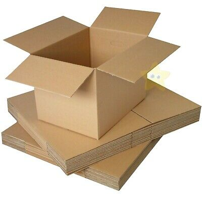 200 x MEDIUM S/W CARDBOARD POSTAL MAILING BOXES 18x12x12