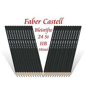 24 x Faber Castell Bleistifte - Härtegrad 2-1/2= HB Mittel - Bleistift NEU