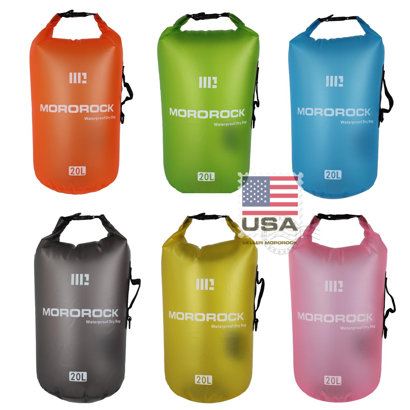 Mororock 10L 15L 20L Translucent PVC Fishing Boating Camping Waterproof Dry Bag