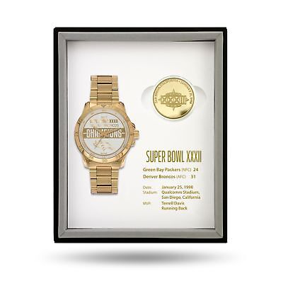 Denver Broncos Super Bowl Watch & Coin Gift Set Limited 50 sets MSRP: $375