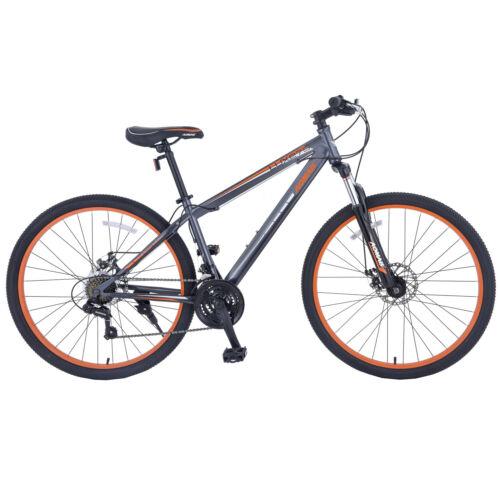"27.5"" Grey & Orange Men's Mountain Bike Shimano Hybrid 21 Sp"