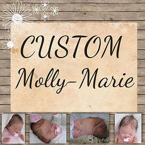 CUSTOM MADE: stunning Molly Marie reborn baby BOY OR GIRL - by artist meg parkes