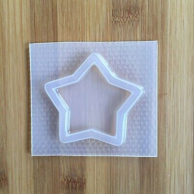 Large Star Shaker Mold Resin Mould Food Safe Big Outline Chocolate Cupcake Top Star Chocolate Mold