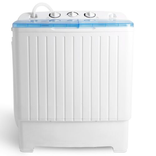 Top Load Compact 17.6 lbs Washing Machine Laundry Twin Tub Washer Spinner Dryer Home & Garden