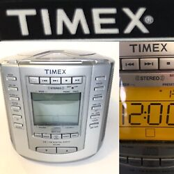 Timex AM/FM Stereo CD Digital Clock Radio Model T601S Nature Sounds