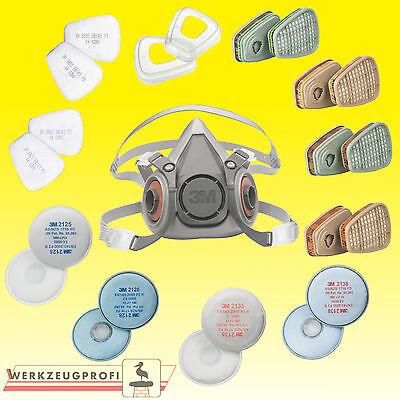 3M Atemschutz-Halbmasken Serie 6000 alle Größen und passende Filter