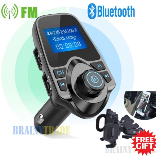 Bluetooth Car FM Transmitter Wireless Radio Adapter USB Char