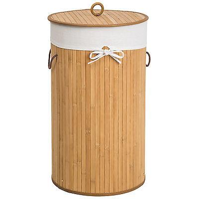Bambus Wäschekorb Wäschesammler Wäschetruhe Wäschebox 57L Wäschetonne Box natur