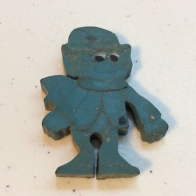 Vintage General Mills Premium Lucky Charms Leprechaun Blue Eraser  - Lucky Charms Leprechaun