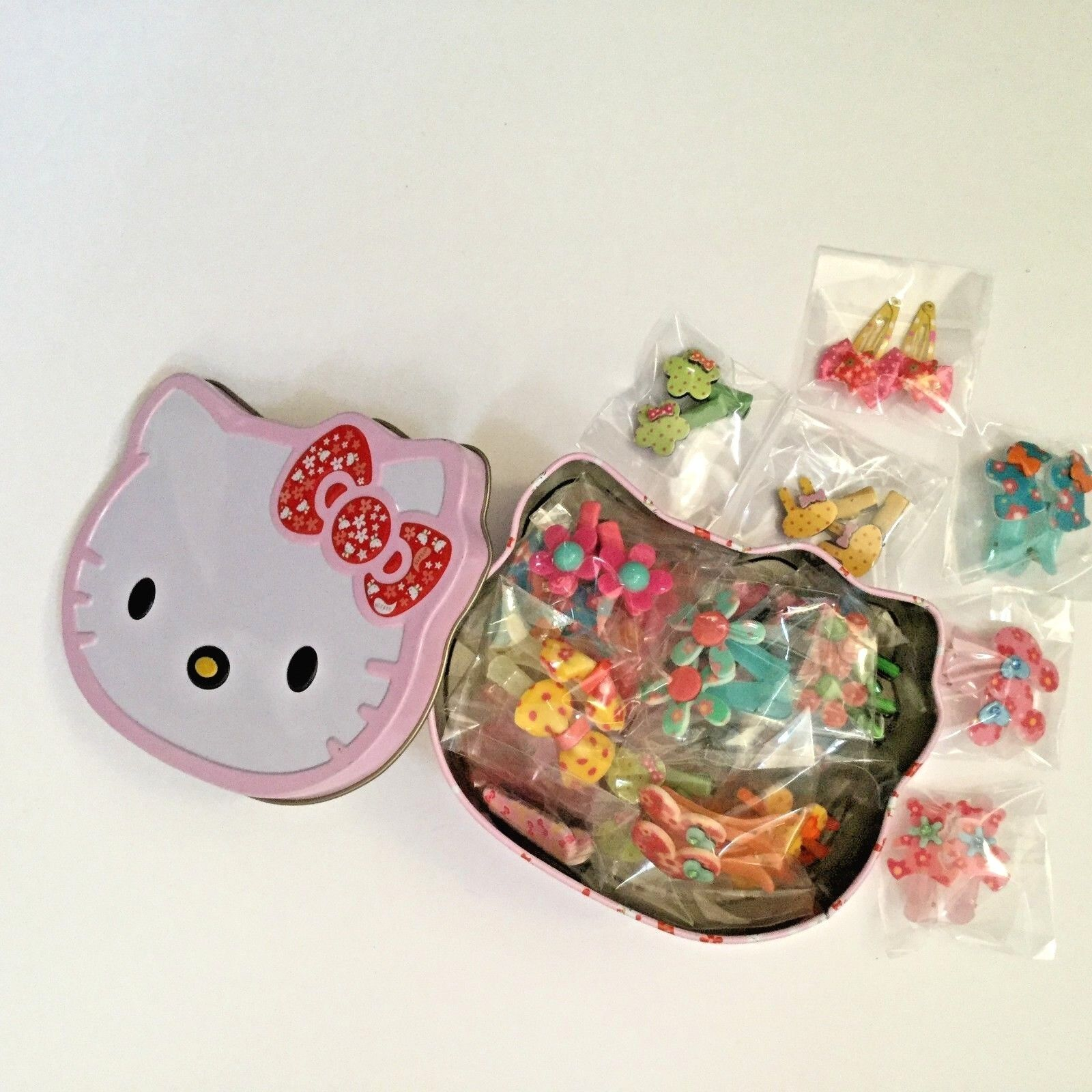 40 PCS Hair Clips For Toddler Baby Girl In Kitty Box