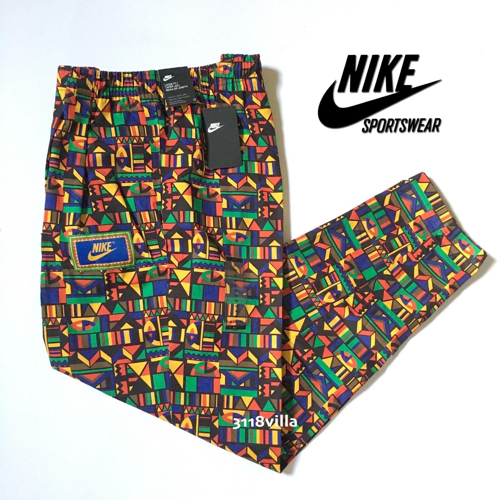 Nike Sportswear Men's Woven Reissue 90's Pants CW2575 Multicolor Size M L XL
