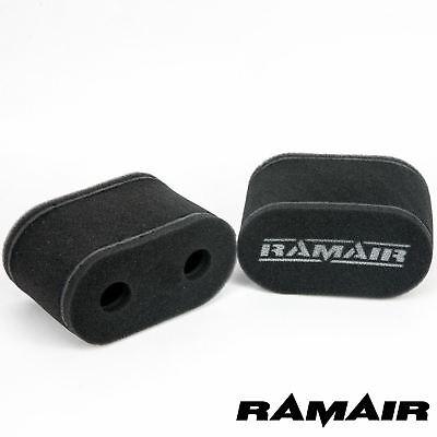 2 x RAMAIR Foam Carb Sock Air Filters Toyota 4AG 1.6 Weber 45 DCOE
