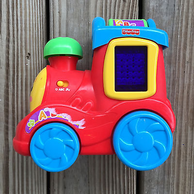 Fisher Price Laugh & Learn Abc Express Train, Lights & Sounds, EUC