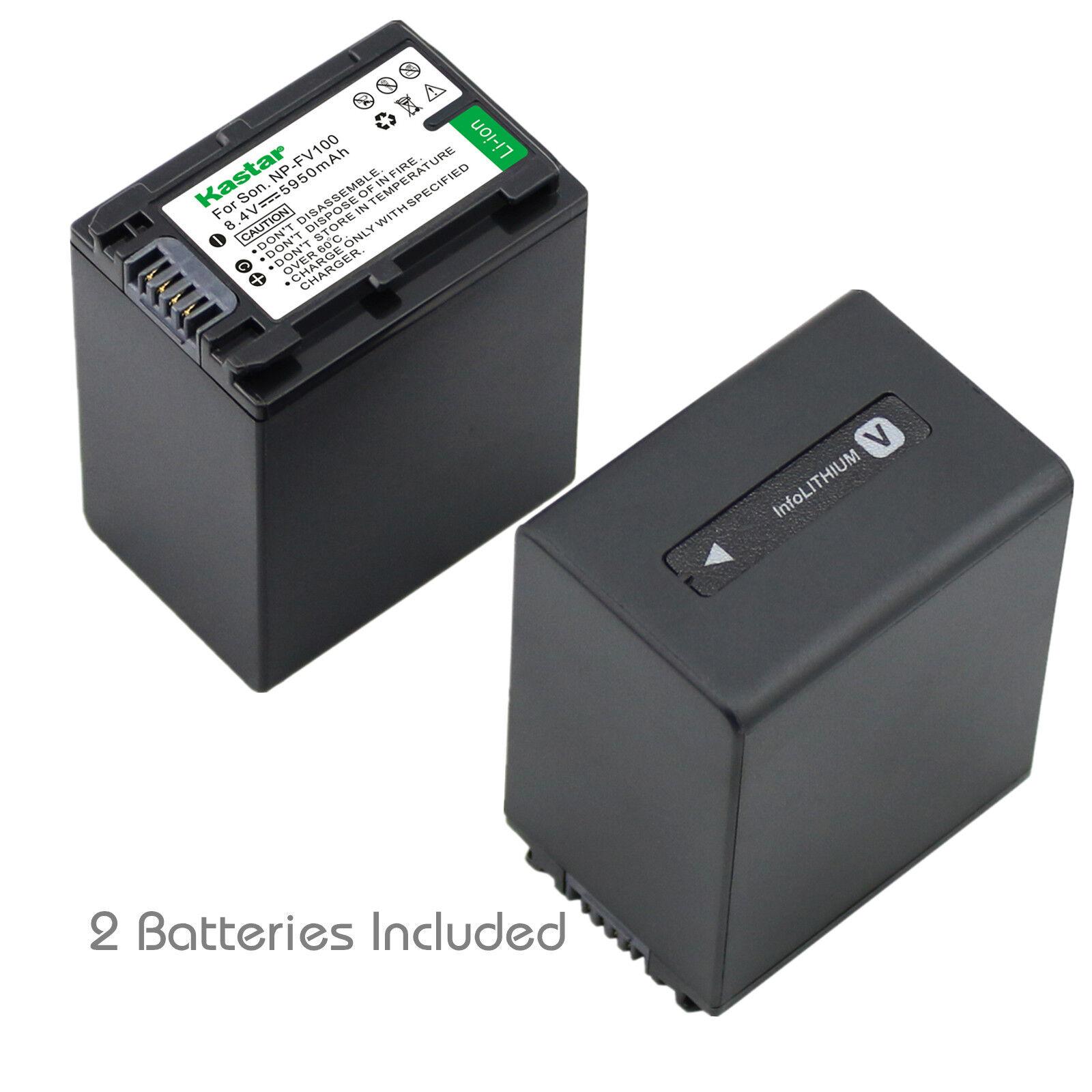 2x Kastar Battery For Sony Np-fv100 Hdr-pj710v Hdr-pj760v...