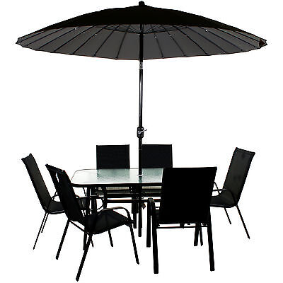 Garden Furniture - GARDEN FURNITURE SET PATIO OUTDOOR LARGE SEATING DINING AREA CHAIR TABLE PARASOL