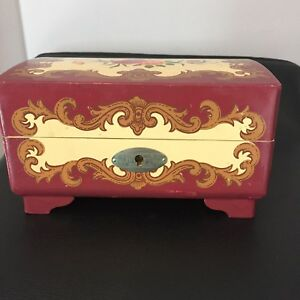 Antiques Ballerina music jewelry box