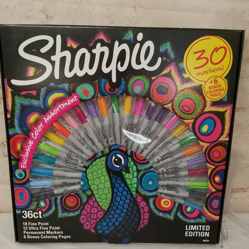 Sharpie PEACOCK Collection Limited Edition 30 Markers Fine Ultra