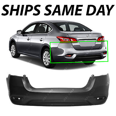 NEW - Primered Rear Bumper Cover Replacement for 2016-2018 Nissan Sentra 16-18