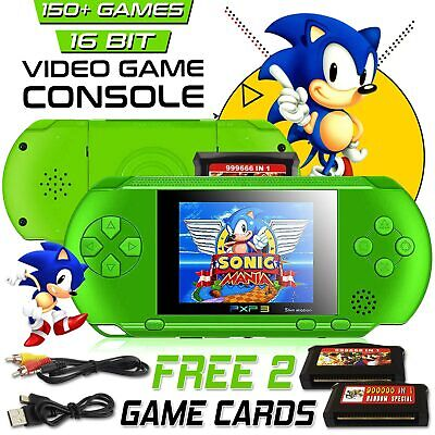 PXP3 Game Console Handheld Portable 16 Bit Retro Video Free Games Gift USA Free Game Systems