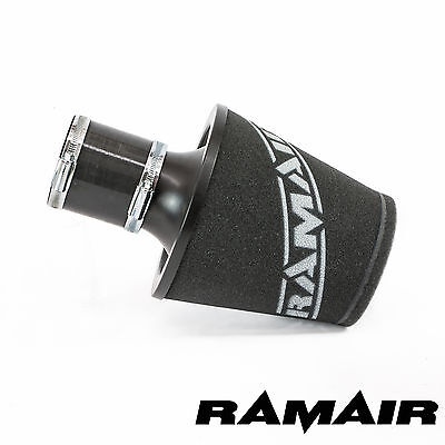 Ramair Black Medium Aluminium Base Foam Air Filter With 70Mm Id Coupling