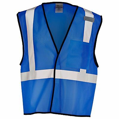 Ml Kishigo Non-ansi Reflective Mesh Safety Vest With Pocket Royal Blue