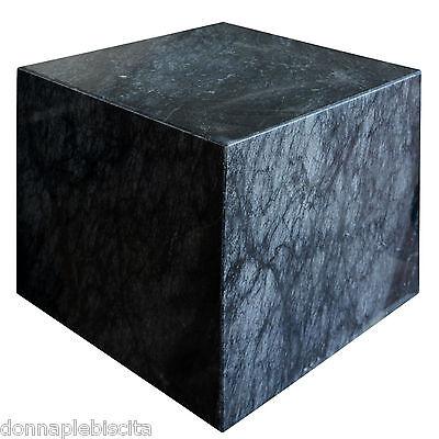 Cubo in Marmo Nero Base Tavolo Black Marble Cube Modern Art and Design h30cm