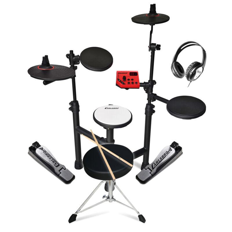 Electronic Drum Kit 5-Piece Jazz Style Set, Stool, Headphones Carlsbro Club 100