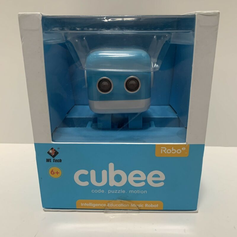 WL Tech Cubee Robo Amusement Educational Smart Robot BLUE - New In Box