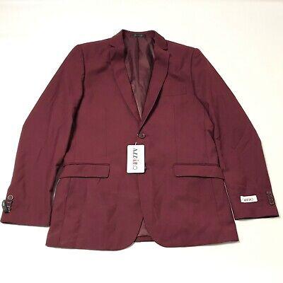 Azzuro Men's Blazer Jacket 40R Burgundy Maroon Career Work Office Business New