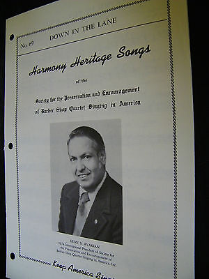 SHEET MUSIC HARMONY HERITAGE SONGS DOWN IN THE LANE