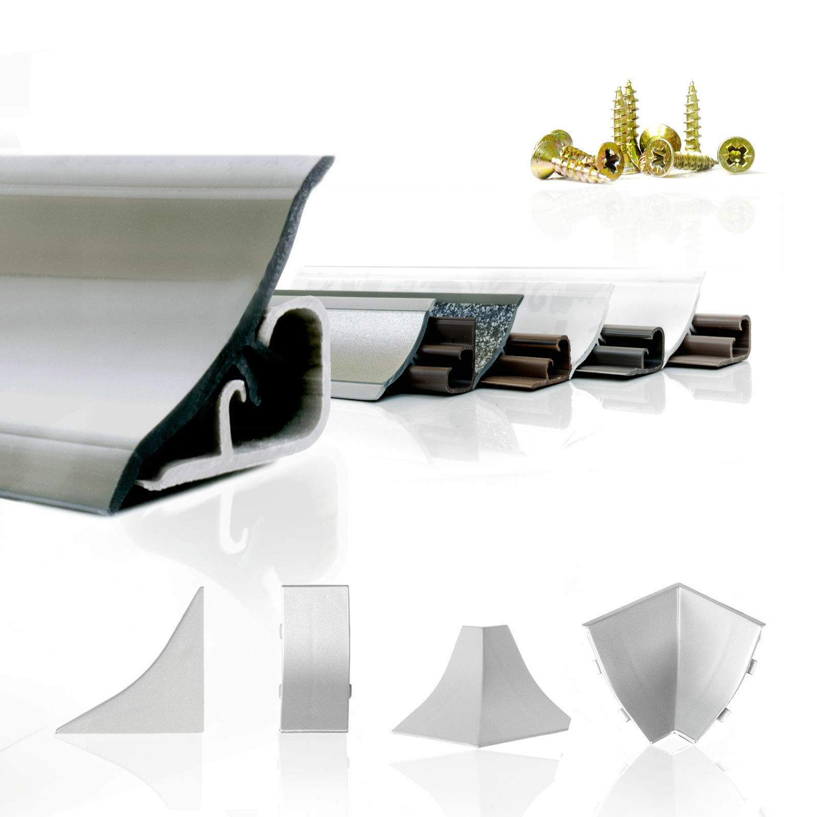 Abschlussleiste Küchenarbeitsplatte 23mm Weichsockelleiste Arbeitsplatte Küche