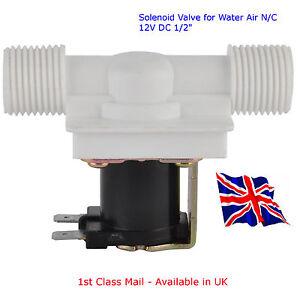 DC12V Magnetic Solenoid Valve for Water Air - N/C 12V DC 1/2
