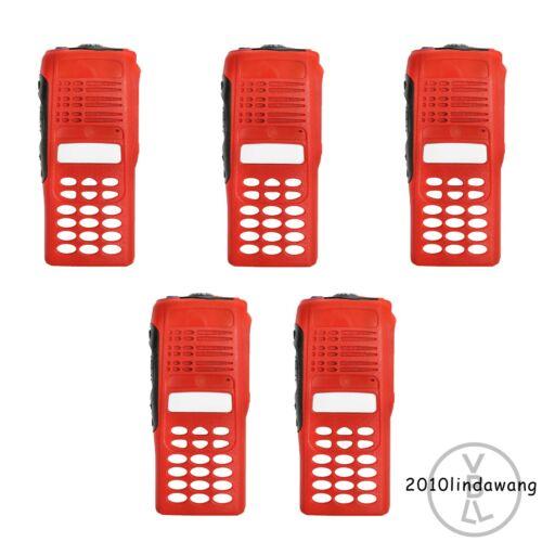 Lot 5 Red Replacement Full-keypad Housing for Motorola HT1250 Portable Radio