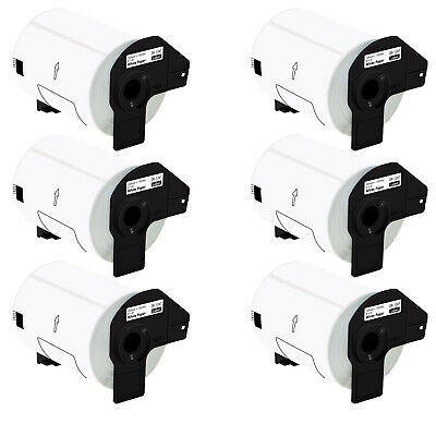 6 Roll Dk-1241 Dk1241 4x6 Label Paper Compatible For Brother Ql-1100 Ql-1050n