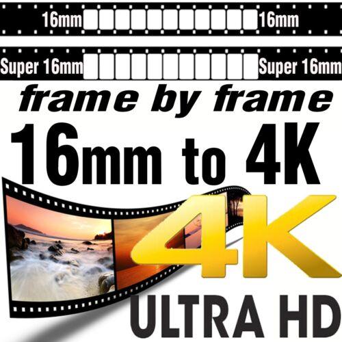 Super 16mm Movie Film to 4K UHD Ultra High Definition Scanning Transfer SERVICE